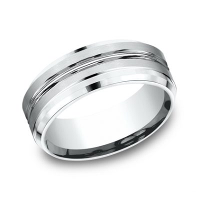 CF68484W P1 400x400 - 8MM WHITE GOLD  BAND CF68484W