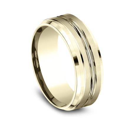 CF68484Y P2 - 8MM YELLOW GOLD BAND CF68484Y