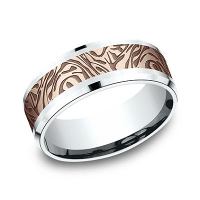 CF838390 P1 Copy 400x400 - 8MM WHITE GOLD DESIGN BAND CF838390