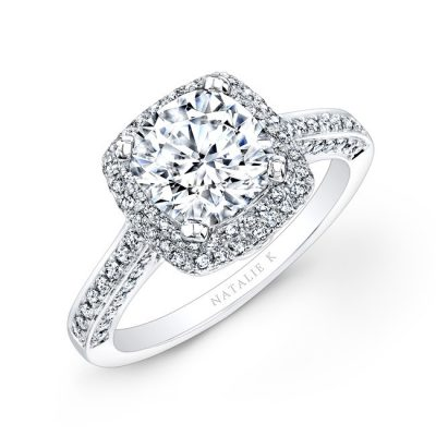 nk22448 w 3 1 400x400 - 18K WHITE GOLD PAVE HALO DIAMOND ENGAGEMENT RING NK22448-18W