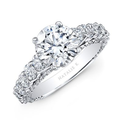 nk25262 w three qrtr 1 400x400 - PLATINUM CLASSIC DIAMOND ENGAGEMENT RING