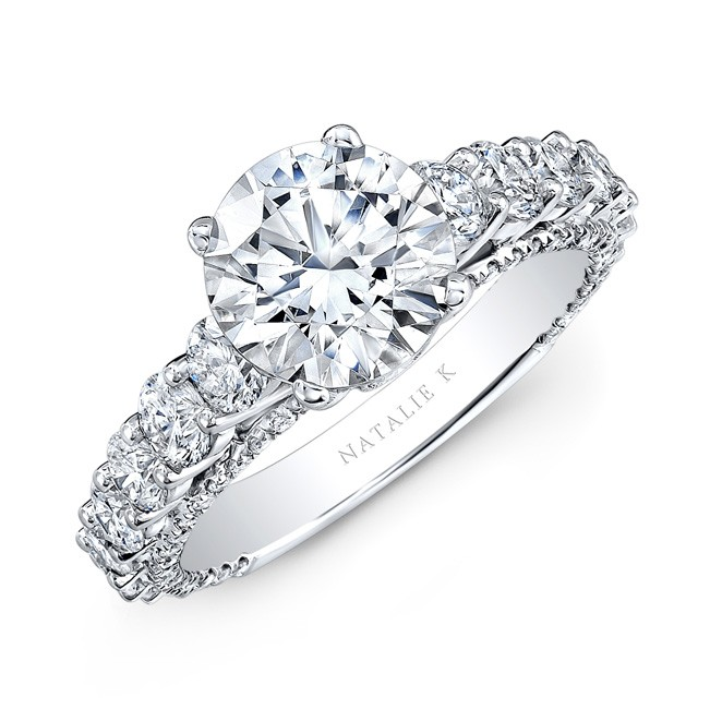 PLATINUM CLASSIC DIAMOND ENGAGEMENT RING Bova Diamonds