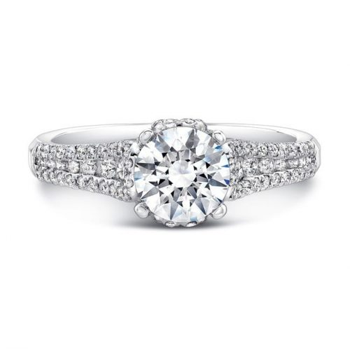 nk25692 w front 1 500x499 - 18K WHITE GOLD PRONG AND CHANNEL SET WHITE DIAMOND ENGAGEMENT RING