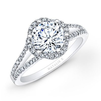 nk26224 w three quarter 4 400x400 - PLATINUM UNIQUE HALO DIAMOND ENGAGEMENT RING