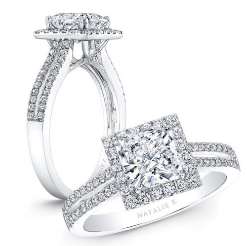 nk28103 w 1 500x499 - 18K WHITE GOLD SPLIT SHANK SQUARE HALO DIAMOND ENGAGEMENT RING