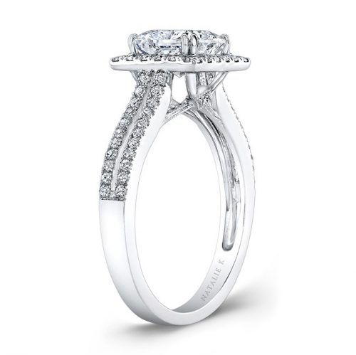 nk28103 w side profile 1 500x499 - 18K WHITE GOLD SPLIT SHANK SQUARE HALO DIAMOND ENGAGEMENT RING
