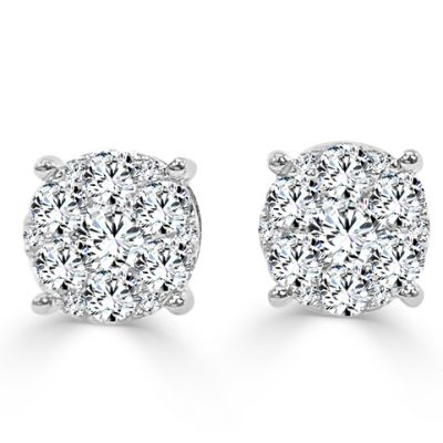 CER186W 400x400 - BOVA SIGNATURE -14K WHITE GOLD DIAMOND D0.46CT EARRINGS - CER186