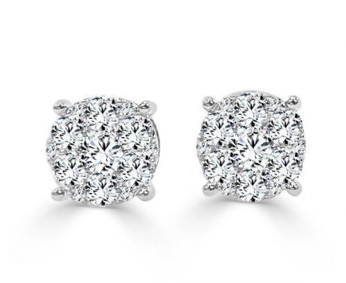 CER186W 500x409 - BOVA SIGNATURE -14K WHITE GOLD DIAMOND D0.47CT EARRINGS - AE10986