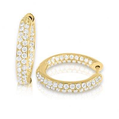 CER327 400x400 - BOVA SIGNATURE -14K YELLOW ROSE GOLD  DIAMOND 0.91CT HUGGY EARRING -Y CER327