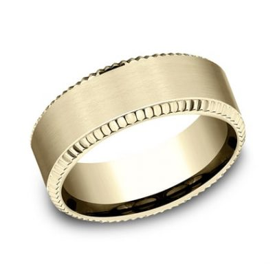 CF188527Y P1 400x400 - YELLOW GOLD 8MM  DESIGN BAND CF188527Y
