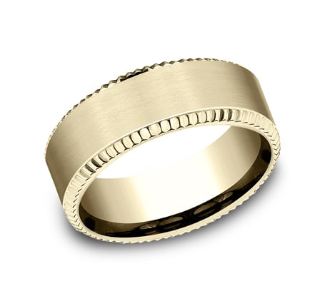 CF188527Y P1 - YELLOW GOLD 8MM  DESIGN BAND CF188527Y
