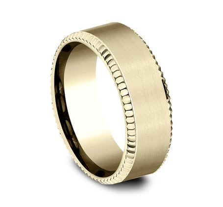 CF188527Y P2 - YELLOW GOLD 8MM  DESIGN BAND CF188527Y