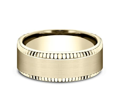 CF188527Y P3 - YELLOW GOLD 8MM  DESIGN BAND CF188527Y