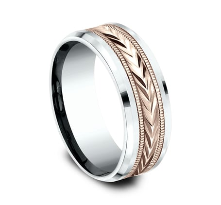 CF228003 P2 - 8MM MULTI GOLD  DESIGN BAND CF228003