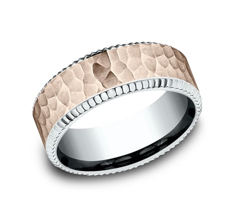 CF228376 P1 - UNIQUE MULTI GOLD 8MM  DESIGN BAND CF228376