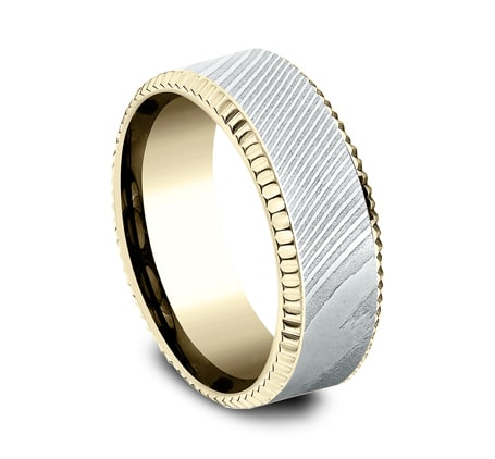 CF338527DSY P2 1 - YELLOW GOLD 8MM  DESIGN BAND CF338527DSY