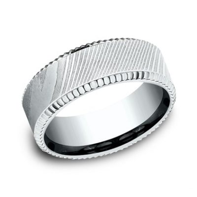 CF348527DSW P1 400x400 - WHITE GOLD 8MM  DESIGN BAND CF348527DSW