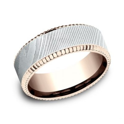CF358527DSR P1 400x400 - ROSE GOLD 8MM  DESIGN BAND CF358527DSR