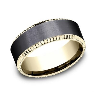 CF448527BKTY P1 400x400 - YELLOW GOLD 8MM  DESIGN BAND CF448527BKTY