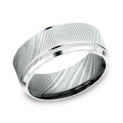 CF69486DS P1 400x400 - 9MM DAMASCUS  STEEL GOLD BAND CF69486DS