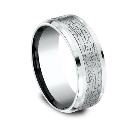 CF808374W P2 - WHITE GOLD DESIGN BAND CF808374W