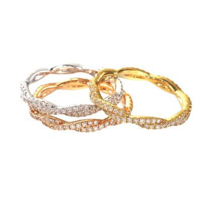 CR3234 400x400 - BOVA SIGNATURE  - 14K DIAMOND 0.29CT STACKABLE BANDS -  CR3234
