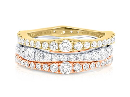 CR3444 500x374 - BOVA SIGNATURE  - 14K DIAMOND 0.72CT STACKABLE BANDS - CR3444