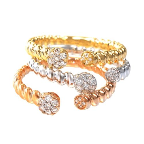 CR3549PWY 1 500x500 - BOVA SIGNATURE  - 14K DIAMOND 0.09CT STACKABLE BANDS - CR3549