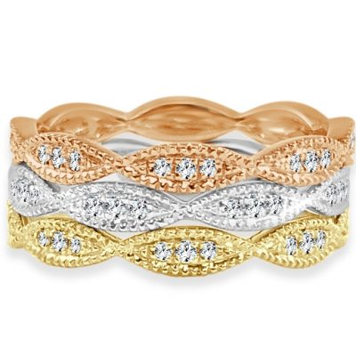 CR3688 400x400 - BOVA SIGNATURE  - 14K DIAMOND 0.17CT STACKABLE BANDS - CR3688