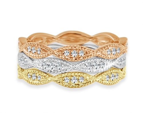CR3688 500x394 - BOVA SIGNATURE  - 14K DIAMOND 0.17CT STACKABLE BANDS - CR3688