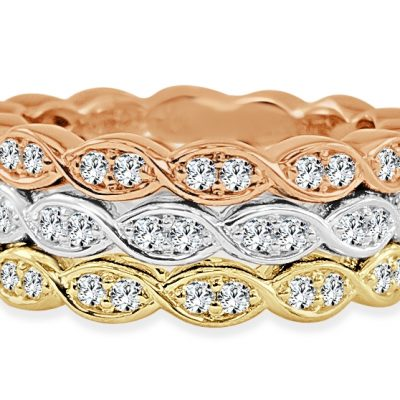 CR3728 400x400 - BOVA SIGNATURE  - 14K DIAMOND 0.31CT STACKABLE BANDS - CR3728