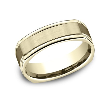EURECF7702SY P1 1 - YELLOW GOLD 7MM  COMFORT-FIT DESIGN BAND EURECF7702SY