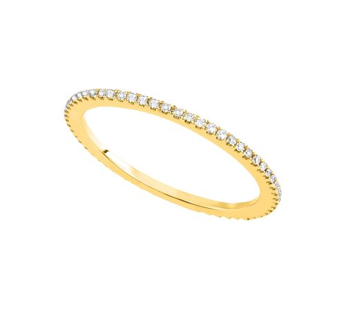KR155002 Yellow 500x447 - BOVA SIGNATURE  - 14K DIAMOND 0.22CT BAND - KR15500