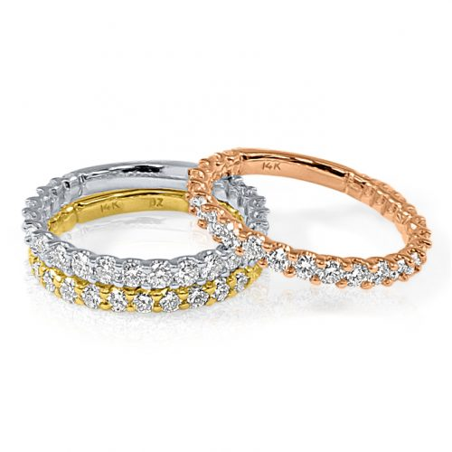 R358 500x500 - BOVA SIGNATURE  -14K DIAMOND 0.93CT STACKABLE BANDS  - R358