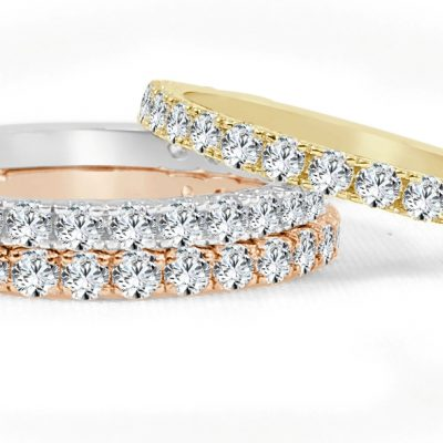 R575WPY 1 400x400 - BOVA SIGNATURE  - 14K DIAMOND 0.74CT STACKABLE BANDS - R575