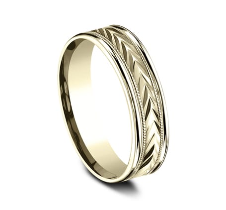 RECF7603Y P2 - 6MM YELLOW GOLD  DESIGN BAND RECF7603Y
