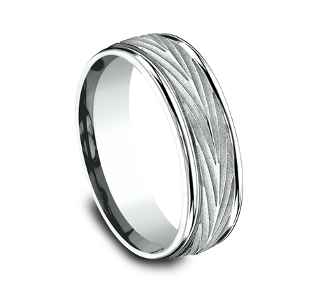 RECF77337W P2 - 7MM WHITE GOLD  BAND RECF77337Y
