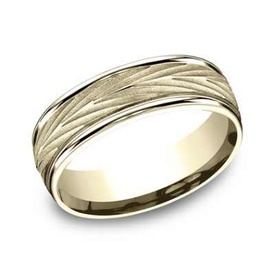 RECF77337Y P1 400x400 - 7MM YELLOW GOLD  BAND RECF77337Y