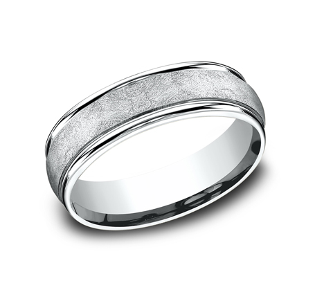 RECF86585PD P1 - 6.5 MM  WHITE GOLD BAND RECF86585W