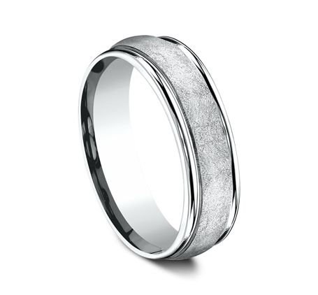 RECF86585PD P2 - 6.5 MM  WHITE GOLD BAND RECF86585W