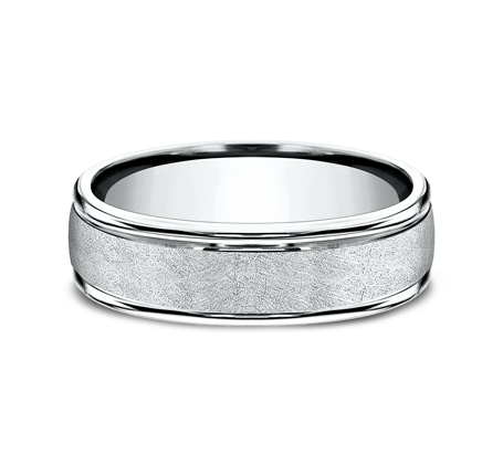 RECF86585PD P3 - 6.5 MM  WHITE GOLD BAND RECF86585W