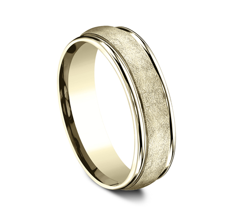 RECF86585Y P2 - 6.5 MM  YELLOW GOLD BAND RECF86585Y