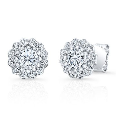 fm31802 18w 400x400 - 18K WHITE GOLD FOREVERMARK® DIAMOND EARRINGS FM31802-18W