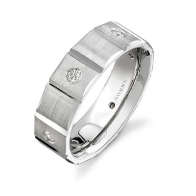 14K WHITE GOLD BEZEL ROUND DIAMOND MENS BAND NK13847 W 400x400 - 14K WHITE GOLD BEZEL ROUND DIAMOND MEN'S BAND NK13847-W