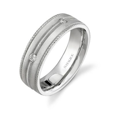 14K WHITE GOLD FIVE STONE PRONG DIAMOND MENS BAND NK15513 W 400x400 - 14K WHITE GOLD FIVE STONE PRONG DIAMOND MEN'S BAND NK15513-W