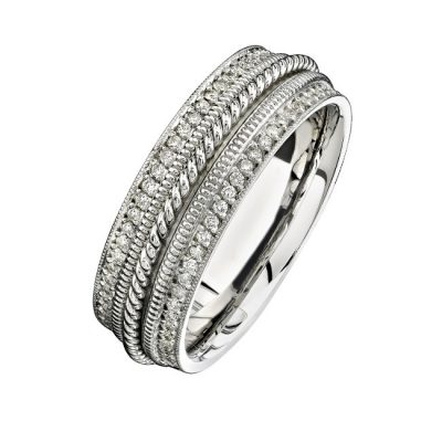 14K WHITE GOLD PAVE DIAMOND EDGE MENS BAND NK15470 W 400x400 - 14K WHITE GOLD PAVE DIAMOND EDGE MEN'S BAND NK15470-W