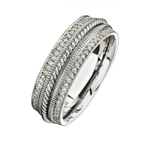 14K WHITE GOLD PAVE DIAMOND EDGE MENS BAND NK15470 W 500x500 - 14K WHITE GOLD PAVE DIAMOND EDGE MEN'S BAND NK15470-W