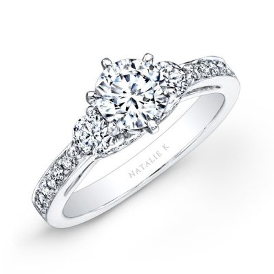 14K WHITE GOLD PAVE PRONG THREE STONE DIAMOND ENGAGEMENT RING NK25238ENG W 400x400 - 14K WHITE GOLD PAVE PRONG THREE STONE DIAMOND ENGAGEMENT RING NK25238ENG-W