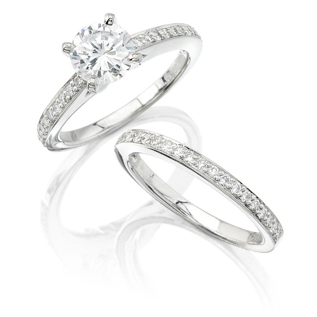 gold three k stone brida diamond natalie w prong white bridal set