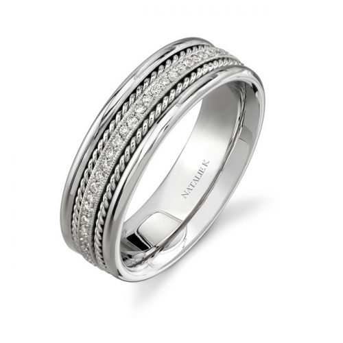 14K WHITE GOLD ROPE DETAIL PAVE DIAMOND MENS BAND NK15469 W 500x500 - 14K WHITE GOLD ROPE DETAIL PAVE DIAMOND MEN'S BAND NK15469-W